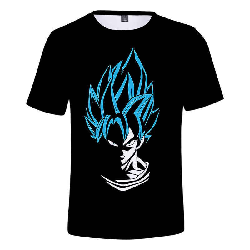 2019 футболка с драконом и шариком вокруг мужчин/женщин/детей Saiyan футболка «Goku» топы, мужская одежда футболки для мальчиков и девочек