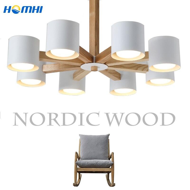 chandelier ceiling modern pendant ceiling lamps nordic wooden chandelier for living room dining room e27 110v