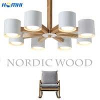chandelier ceiling modern pendant ceiling lamps nordic wooden chandelier for living room dining room e27 110v 220v led lighting