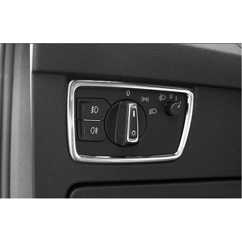 Interruptor Do Farol de aço inoxidável etiqueta Do Carro Guarnição para LHD STYO VW Passat B8 2016 2017