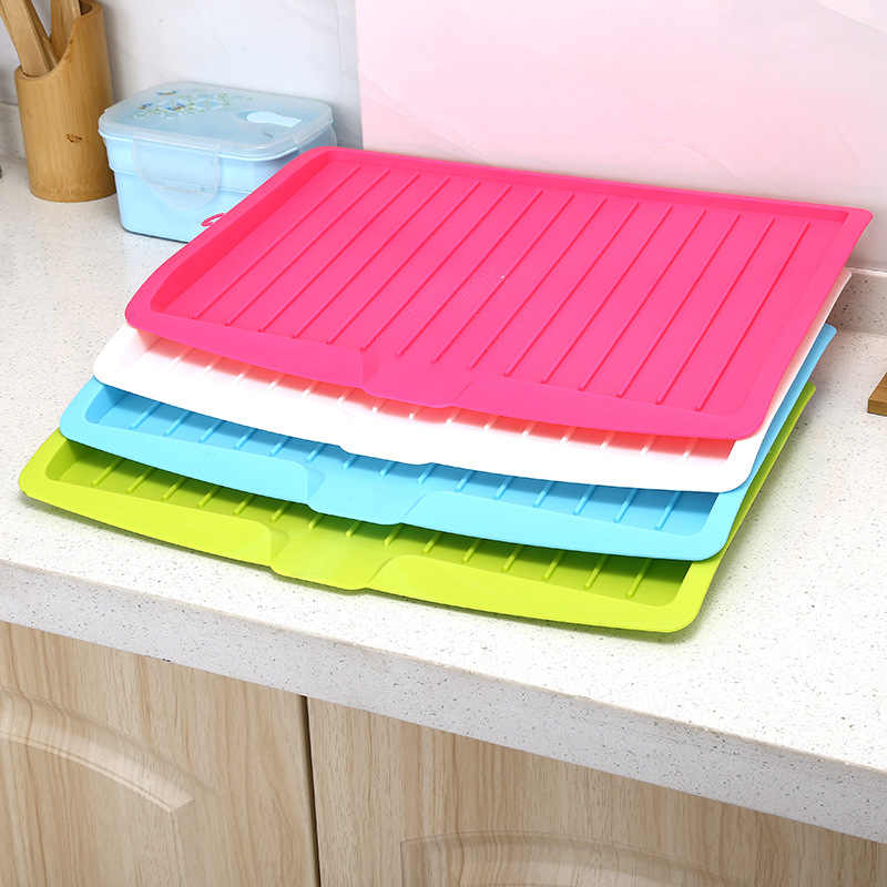 New Drain Rack Kitchen Plastic Dish Drainer Tray Large Sink Drying Rack Worktop Organizer drying rack for dishes Dropshipping