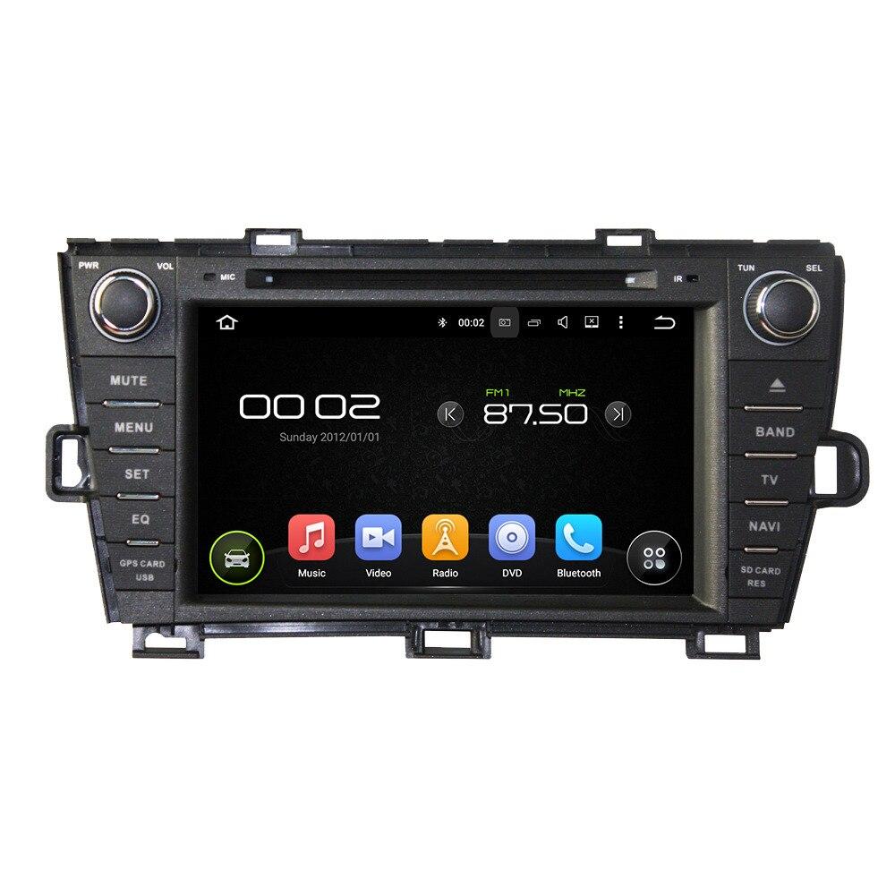 8 дюймов 1 г Оперативная память 16 г Встроенная память 2 DIN Android 5.1.1 dvd-плеер автомобиля аудио стерео GPS Navi для toyota Prius 2009-2013 рулевого колеса Радио