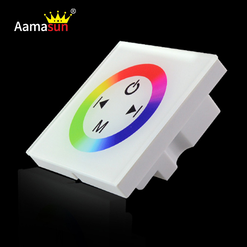 dc12v 4a 86 wall mounted led rgb dimmer touch panel controller for fita rgb l. Black Bedroom Furniture Sets. Home Design Ideas
