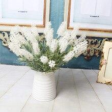 Искусственные Лаванда Зеленый завод пластиковые цветы и растения Свадебные дома декоративные искусственные цветы