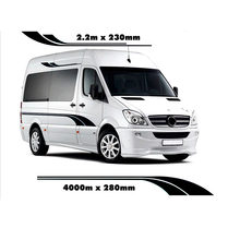4 M Motor Stripes Kemping Van Sprinter Vinyl Grafis Decals(China)
