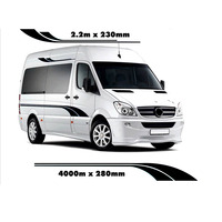 4m MOTORHOME STRIPES CAMPER VAN SPRINTER VINYL GRAPHICS DECALS