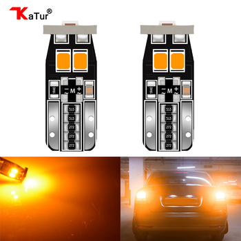 2x Canbus T10 Orange Led Auto Licht Canbus W5W t10 Led 168 194 3030SMD Weiß Tür Schritt Lizenz Platte Lichter lampen Universal Autos
