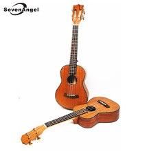 SevenAngel 23″ Concert Ukulele All Solid Wood Guitar Mini Hawaiian 4 strings Guitar Mahogany Body Ukelele professional Uku