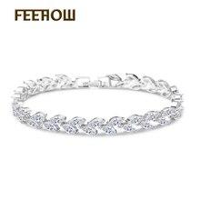 Almassa Brand White & Multicolor Marquise Shape Cubic Zirconia Diamond Women Chain Bracelets