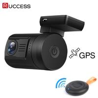 RUCCESS DVR 0906 Mini Car DVR GPS Logger Full HD 1080p Novatek 96663 WDR Capacitor 1920x1080 Night Vision 170 Degree Dash Cam