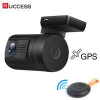 RUCCESS DVR 0906 Mini Car DVR GPS Logger Full HD 1080p Novatek 96663 WDR Capacitor 1920x1080