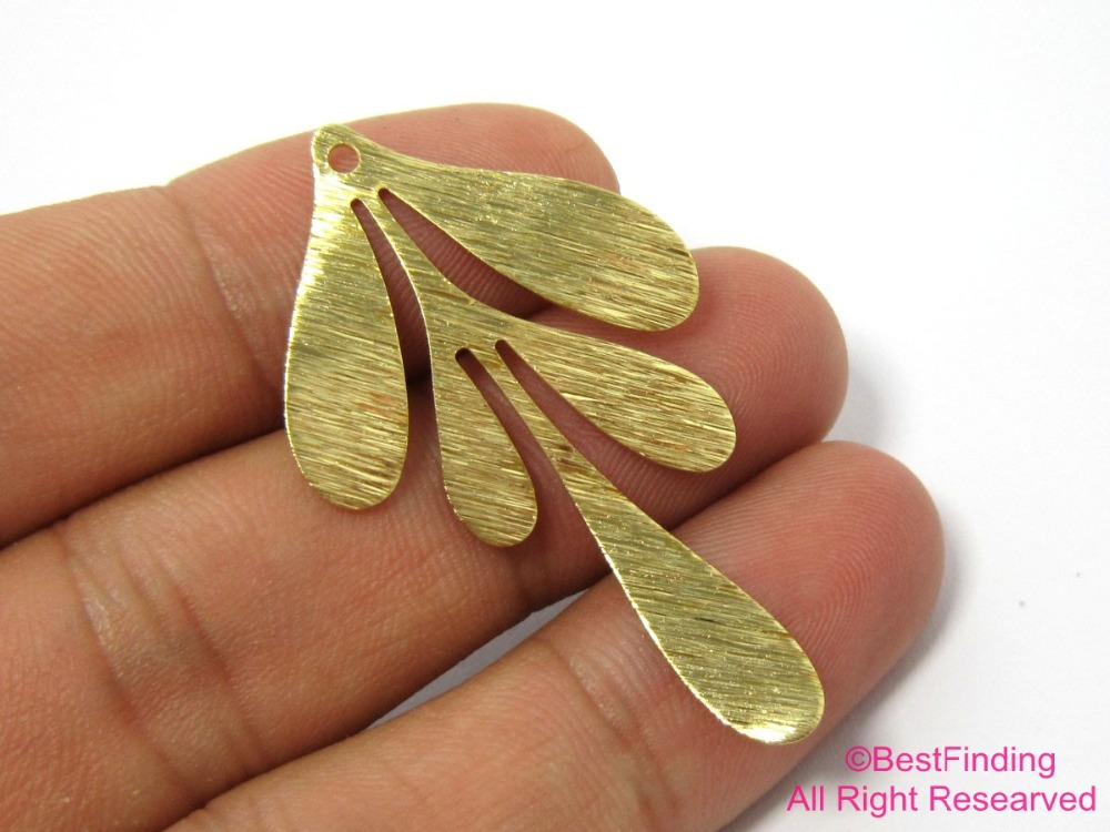 Leaf Earrings Raw Brass Leaf Charm Fit For DIY Leaf Necklace Leaf Brooch Exclusive Leaf Pendant RD572 Leaf Brass Findings