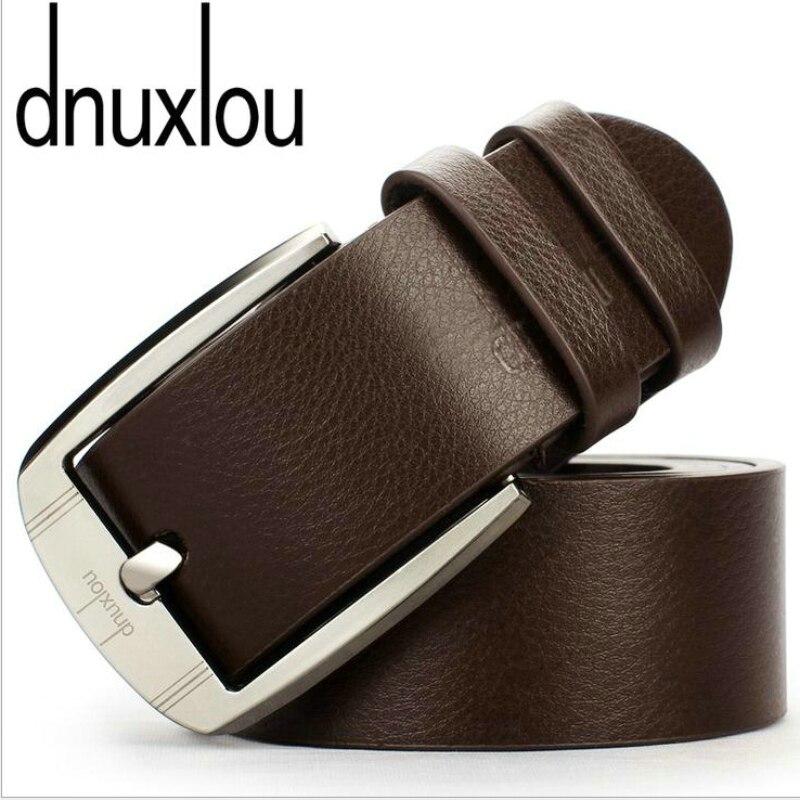 Dnuxlou Business Leisure Wide Faux PU Leather Belt Men Designer Belts Elegant Shining Metal Buckle 125cm Cinto Ceinture Homme