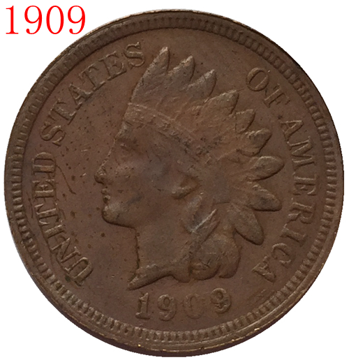1909s Indian head cents coin copy