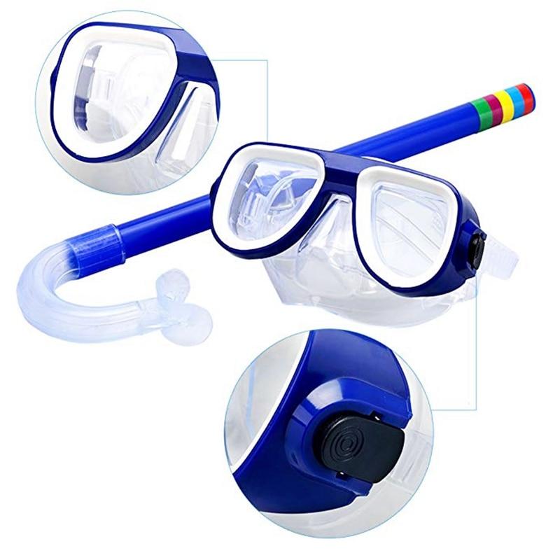 New Professional Kids Underwater Anti Fog Diving Mask Silicone Swimming Fishing Pool Equipment Snorkel Glasses Set