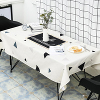 Tablecloth Cotton and Linen Small Fresh Modern Minimalist Dining Table Cloth Tablecloth Rectangular Coffee Table Tablecloth 5