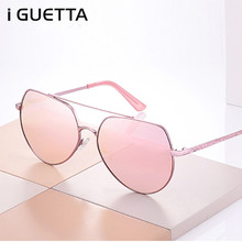 iGUETTA Fashion Female Polarized Sunglasses Women Round Sunglass Driving Titanium Glasses Vintage IYJB501