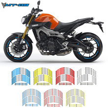 Hot sell Motorcycle wheel decals stickers rim stripe front  rear wheels For YAMAHA MT-09