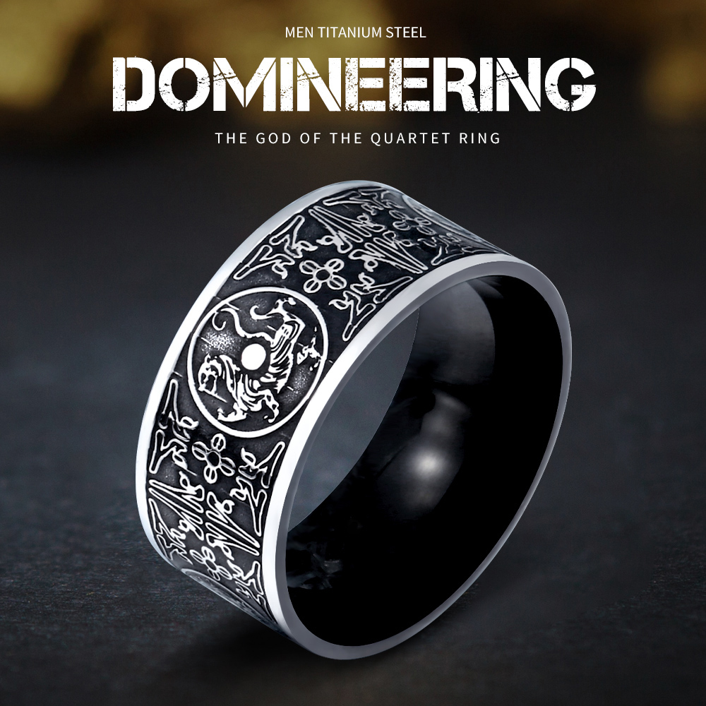BEIER Unik Haiwan Eropah Utara Thor Viking Stainless Steel Dragon Mens Ring Gothic Chinese christmas charms Jewerly BR8-386
