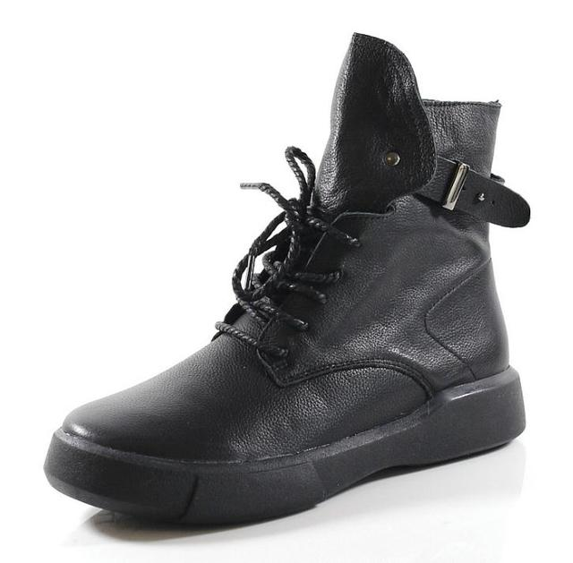 new Martin boots handmade leather women's shoes casual boots single boots