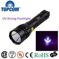 מתח גבוה הסיטונאי סין 380 ~ 385nm LED UV לפיד פנס צלילה פנס צלילה