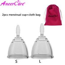 2pcs Copa menstrual cup coletor vaginal copa de silicona medica coppetta mestruale lady