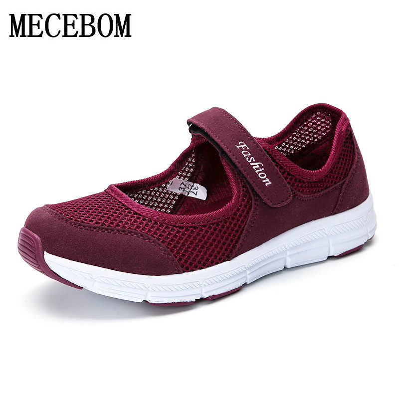 Women's Shoes Casual Sport Fashion Shoes Walking Flats Height Women Loafers Breathable Air Mesh Swing Wedges Shoe 766W 2017 brand new women casual shoes summer breathable walking shoes low net surface flats fashion loafers 4 colors bc 03