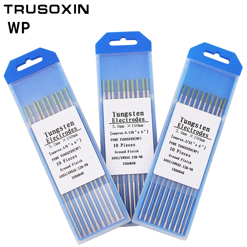 10pcs Green Code 1.0/1.6/2.0/2.4/3.0/ 3.2/ 150MM Tungsten Electrode Tungsten Needle/Rod For Welding Machine With TIG Function