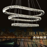 Modern Ellipse Crystal chandelier simply lamps For Diningroom Luxury Hotel rooms Entry Foyer lighting with GU10 Led lamp 9069 2