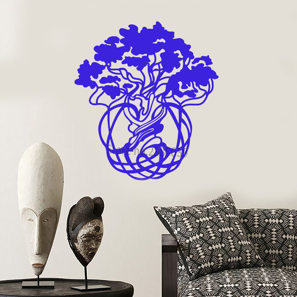 Ethnic Style Tree Of Life Vinyl Wall Decal Home Decor Nature