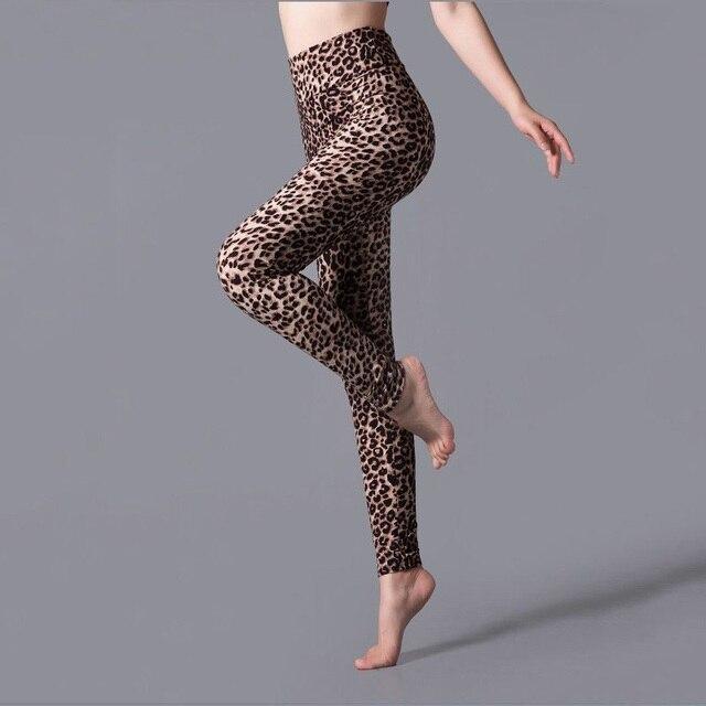 YSDNCHI New Stripe Leopard Print Leggings Women High Waist Legings Work Out Legging Sporting Push Up Trousers Fitness Leggins 6