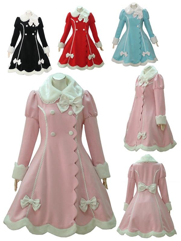 D'hiver Chaud Avec Hiver Manteaux Tous Vente Top Lolita Manteau Longs Taille Arc Belle Mignon zMqVpGSU