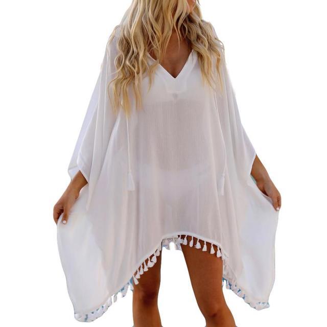 4f4772de1a Swimsuit Cover Up Women Chiffon Hooded Coat Tops Suit Bikini Swimwear Beach  Smock Swimwear Womens 2018 Bikini Cover Up