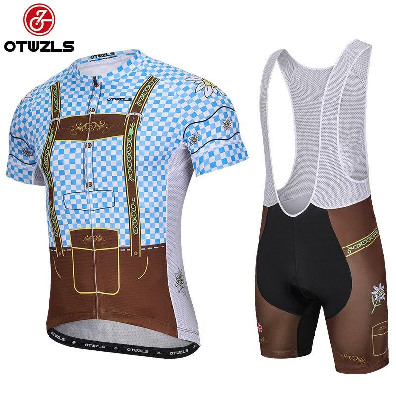 OTWZLS 2019 cycling jersey set pro team men summer short sleeve mountain bike  jersey mtb bicycle cycling clothing customized d96541c0d