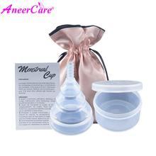1pcs copa menstrual de silicona medica period cup copas menstruales coppetta mestruale coupe menstruelle Plegar menstruation