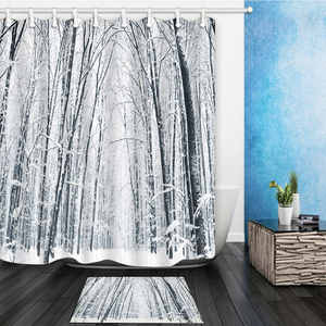 FANG JANE Shower Curtains Forest Bathroom Waterproof