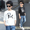 T Shirt Boys Spring Wear 6 8 10 11 12 13 14 15 Long Sleeve Letter Kids T-shirt Casual Children Clothes Teenage Boy Top