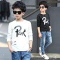 T Shirt Boys Spring Wear 6 8 10 11 12 13 14 15 Long Sleeve Letter Kids T-shirt Casual Children Clothes Teenage Boy Top
