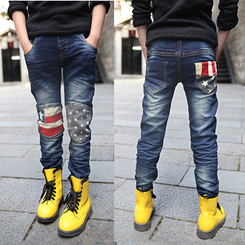 2019 child jeans spring and Winter all-match pentastar baby/kids/boys pants jeans