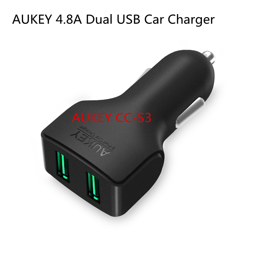 AUKEY CC S3 4 8A Dual USB Car Charger for Xiaomi iPhone Samsung iPad LG etc