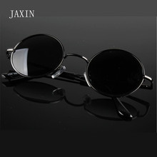 JAXIN Retro round sunglasses women fashion personality glass