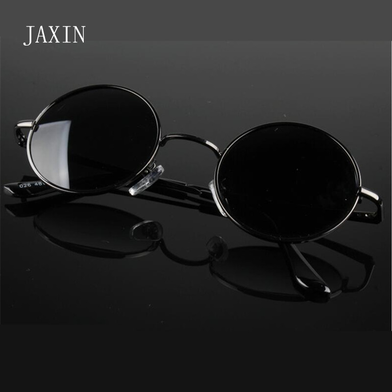 JAXIN Retro Round Sunglasses Women Fashion Personality Glasses Men Eye Protection Polarized Oculos De Sol Masculino UV400 Gafas