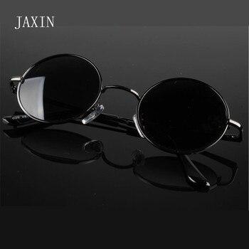 JAXIN Retro round sunglasses women fashion personality glasses men eye protection polarized oculos de sol masculino UV400 gafas