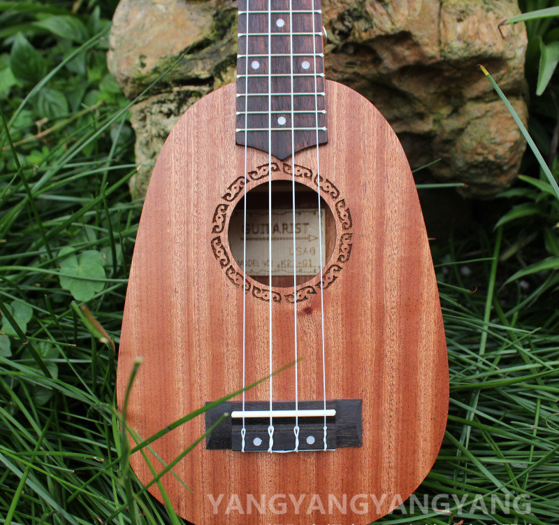 Soprano Ukulele 21 Inch Hawaiian Guitar 4 Strings Ukelele Pineapple Guitarra Uke Mahogany Handcraft Wood Musical Instruments soprano ukulele neck for 21 inch ukelele uke hawaii guitar parts luthier diy sapele veneer pack of 5