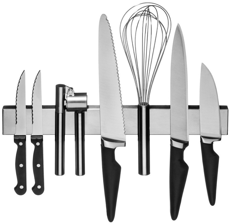 magnetic stainless steel kitchen knives rack kitchen knife storage rack simple and convenient - Knife Storage