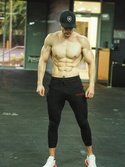 Fashion Mens Joggers Pants Skinny Casual Trousers Pants Top Quality Men Sweatpants 3