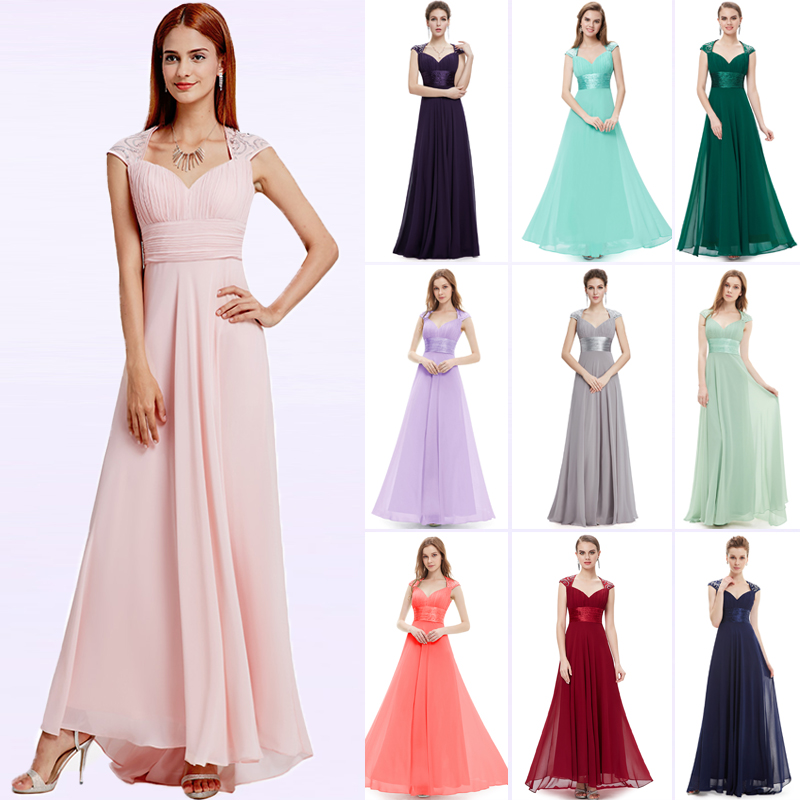 Evening     Dresses   Fast Shipping EP09672 Ever-Pretty V-neck Empire Chiffon Sexy Long 2018 Vestidos Longo Party   Evening   Elegant