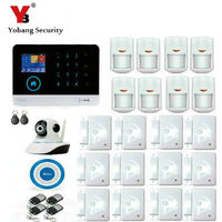 YobangSecurity Wireless Wifi WCDMA 3G GSM Home Security Alarm System With Video IP Camera Russian Dutch