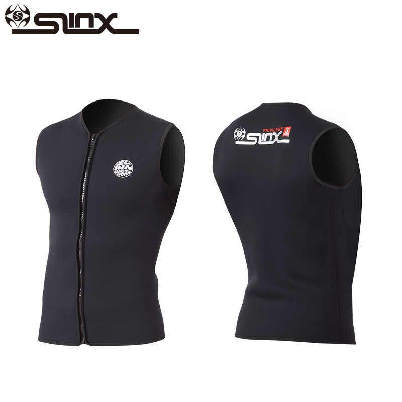 SLINX açık Unisex Wetsuits 3MM neopren kolsuz Wetsuit yelek dalış sörf rüzgar sörfü uçurtma