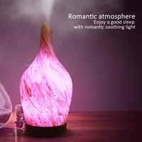 KBAYBO 100ml 3D Keramik vase Marmor Glas Luftbefeuchter Elektrische Diffusor Nebel Maker mit 7 farben Ändern LED Licht für Home-in Luftbefeuchter aus Haushaltsgeräte bei